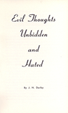 Evil Thoughts Unbidden and Hated by Frederick George Patterson