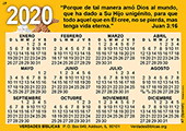 2020 Spanish Calendario de Bolsillo