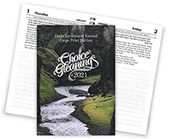 2021 Choice Gleanings Calendar: Large Print Daily Devotional Journal — Desk/Personal Size Planner