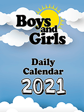 2021 Boys and Girls Daily Calendar: Block Only