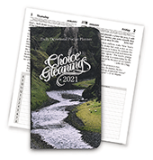 2021 Choice Gleanings Calendar: Smaller Daily Devotional Journal — Pocket Size Planner