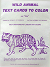 Wild Animal Text Cards to Color: Verses on Sin by Vivian Gunderson