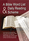 A Bible Word List and Daily Reading Scheme by TBS