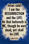 Scripture Poster: I am the resurrection and the life: He that believeth on me, though he were dead, yet shall he live. John 11:25 by TBS