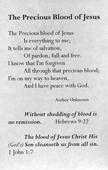 The Precious Blood of Jesus: Poetry and Scripture Edition