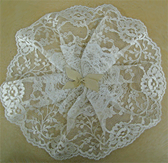 Ivory Gathered Lace Circlet Cap by Northwestern Lace