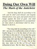 Doing Our Own Will: The Mark of the Antichrist by William Kelly