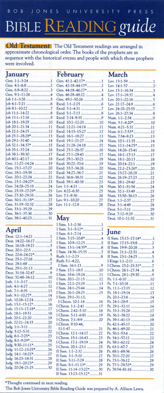 Bible Reading Guide: Chronological Bible Reading Plan by A.A. Lewis